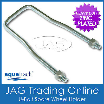 AQUATRACK SPARE WHEEL TYRE HOLDER / CARRIER - For Caravan/4x4/Boat/Box Trailer