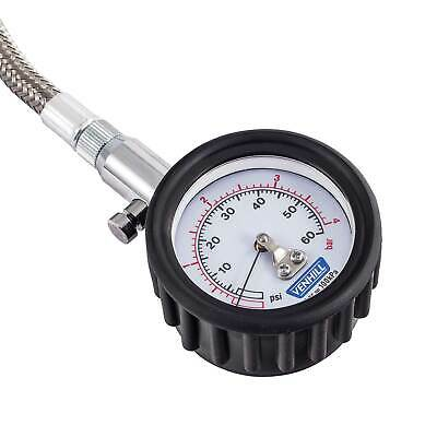 Venhill Motocross/Bike/MX Tyre Pressure Gauge TPG - 0-60 PSI - 0 To 4 Bar Range
