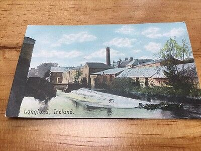 Old Postcard Longford Ireland