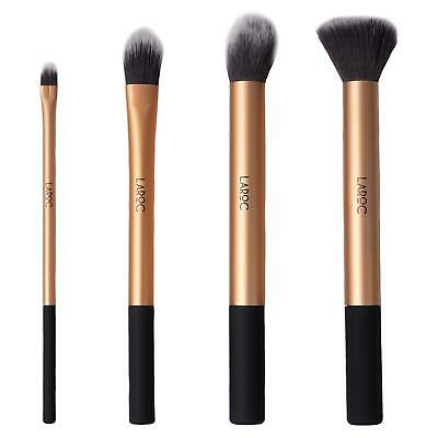 LaRoc 4 Piece Makeup Brush Cosmetic Set Kit Eyeshadow Foundation Powder Blush