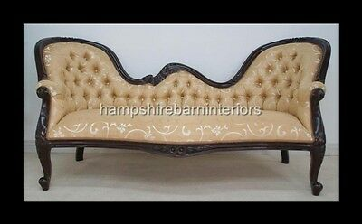 Victorian Style Mahogany Gold Chaise Longue Orient Sofa Home Salon Free Delivery