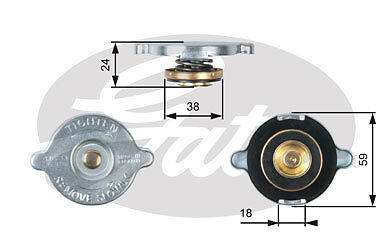 New Gates - Radiator Cap - Rc112