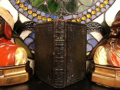 1655 Enchiridion Epictetus Metaphysics Stoicism Greek Philosophy + Tablet Cebes