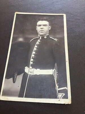 Old Picture Of A Soldier In His Uniform