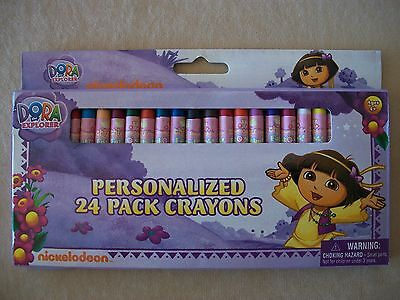 Nickelodeon Dora The Explorer 24 Pack Assorted Colored Crayons, NEW IN PACKAGE!!
