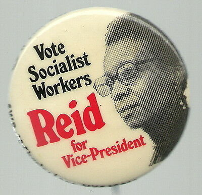 Socialist Workers Willie Mae Reid Vice President Political Pin