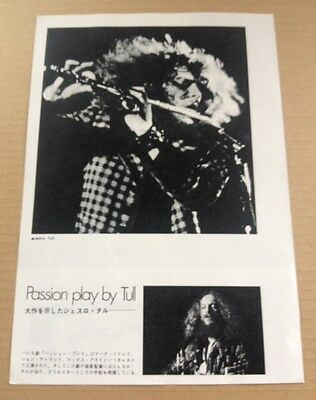 1973 Jethro Tull JAPAN mag photo pinup mini poster / vintage clipping 11osp