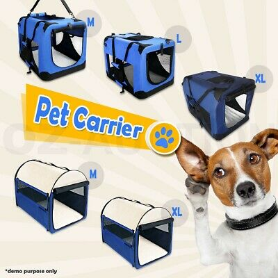 Folding Cat Puppy Dog Carrier Travel Cage Tent Kennel Pet Portable Soft Crate