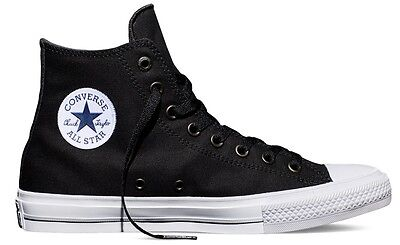 1db7b5b80ba4 New Converse The Chuck Taylor All Star II Black Canvas HI Men Shoes 150143C  3-