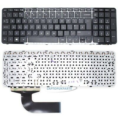 New For HP 15-G255SA Notebook English Keyboard UK Black Layout with Frame