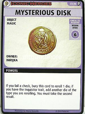 Pathfinder Adventure Card Game - 1x Mysterious Disk Boon Card - Iconic Heroes #3