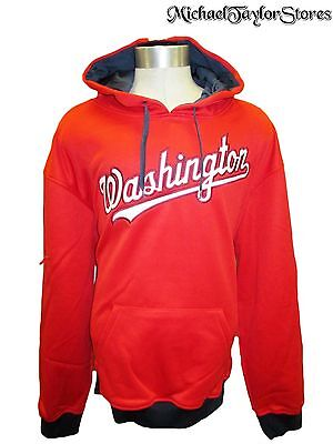 Washington Nationals Men S, 2XL Pullover Embroidered Hooded Sweatshirt MLB
