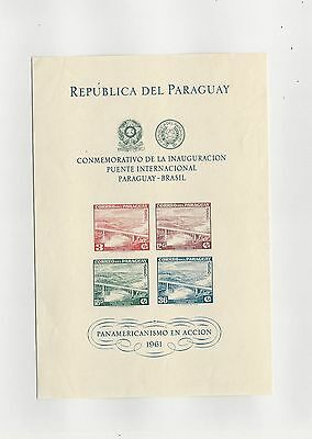 Paraguay, Postage Stamp, #C277a Mint NH Sheet, 1961