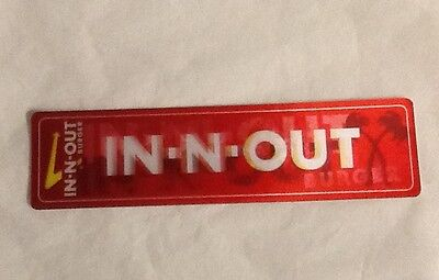 In N Out Bookmarks Ruler In-N-Out Burger Inch CM Lot 6