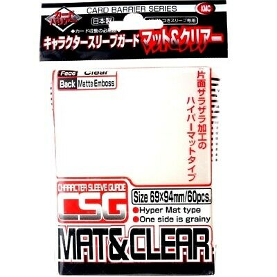 Kmc 60 Matte Clear Character Guard Sleeves Mat & Clear