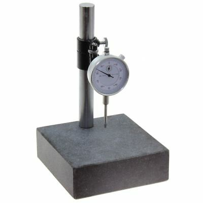 Granite Check Stand Comparator Base Surface Plate & Dial Indicator Gauge 6x6