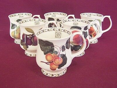QUEENS HOOKERS FRUIT 6 CURVED MUGS (9oz) - NEW