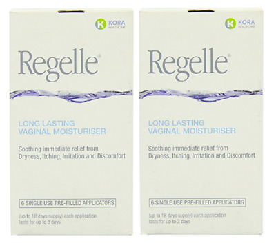 2 x Regelle Long Lasting Vaginal Moisturiser - 6 Pre-Filled  Applicators