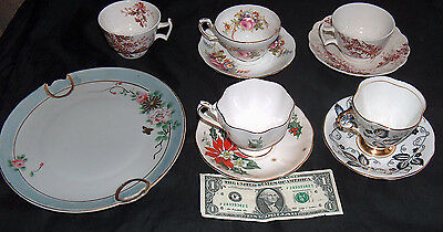 Estate Sale China Lot Nippon Queen Anne Booths Clarence Foley Cup Saucer Plate