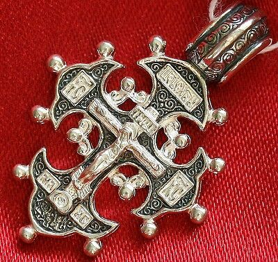 Save And Protect Prayer Russian Orthodox Eastern Crucifix Silver925 Jesus Christ