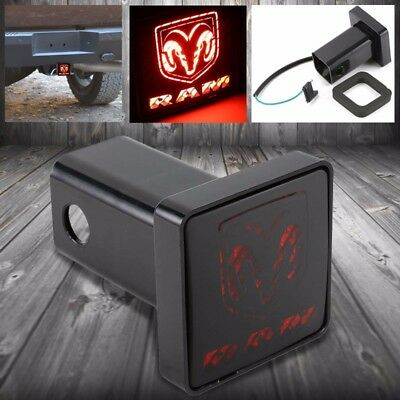 """Bully Rear Hitch Cover + Brake Trailer Tailgate Light For Dodge Fit 2"""" Receiver"""