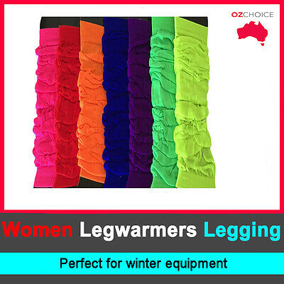Winter Elastic LEG WARMERS Stocking Legging High Womens Party Knit Ankle Socks