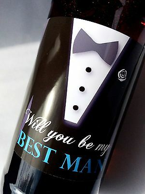 WEDDING BEER THANK YOU GIFT LABEL IDEA FAVOUR, BRIDESMAID, BEST MAN, USHER etc.