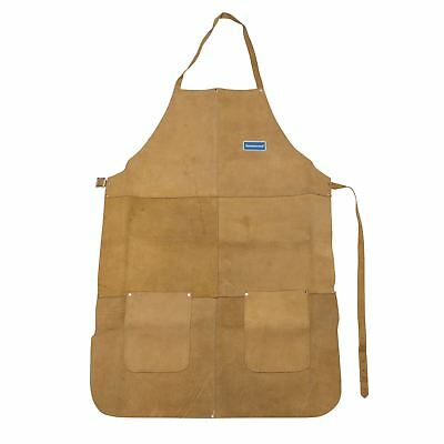Silverline Welders Welding Apron Chrome Leather Full Length Safety