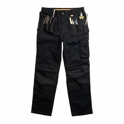"Dewalt Black DWC10 Pocket Work Cargo Trousers 38"" Waist 33"" Inside Leg"