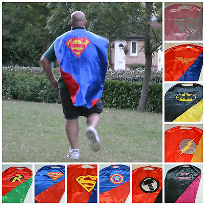 Adult Superhero Cape Mask fancy dress costume Stag Hen Party Night Weekend