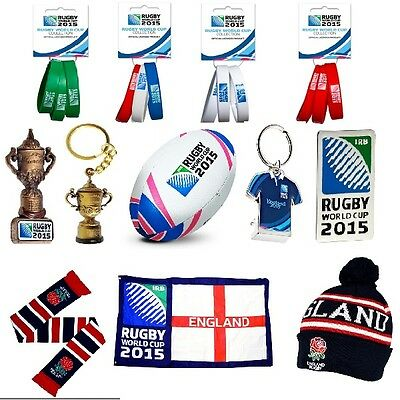 OFFICIAL RUGBY WORLD CUP 2015 GIFT (RFU) Pin Badge/Keyring/Flag/Mug/Rugby Ball