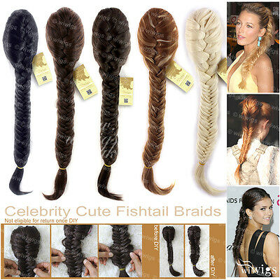 Wiwigs Celebrity Clip In Fishtail Plait Braids Ponytail Hairpiece Extension