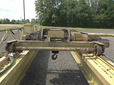 5 ton Bridge Crane with P&H Hoist 58 ft span FREE loading on flatbed