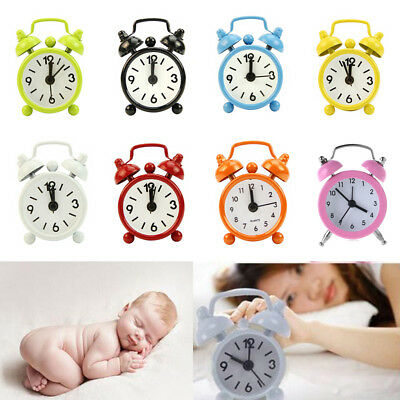 New Home Outdoor Portable Cute Mini Cartoon Dial Number Round Desk Alarm Clock