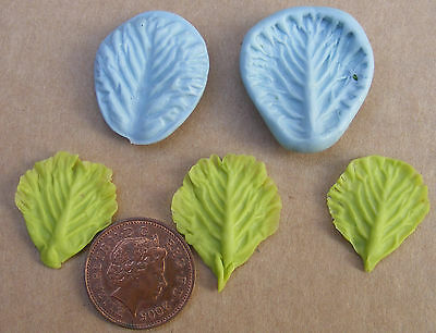 1:12 Scale 2 Part Lettuce Leaf Mold Set Dolls House Miniature Food Accessory