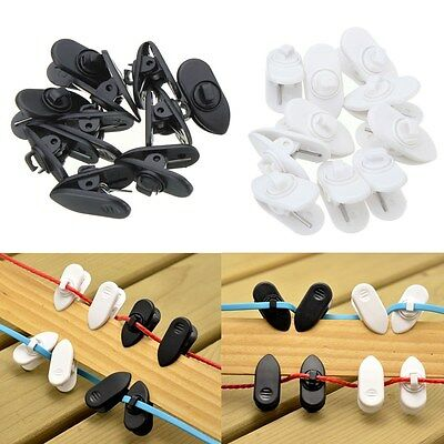 10 x Headphone Earphone Cable Wire Cord Lapel Collar Clip Nip Clamp Holder Mount