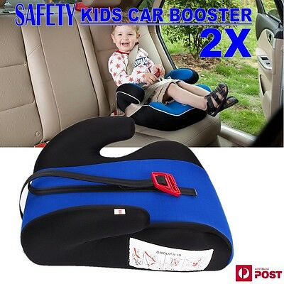 2x Car Booster Seat Blue Sturdy Baby Child Kid Children Fit 3 To 12 Years Safety