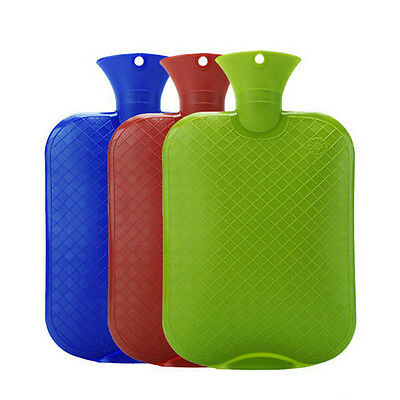 LARGE THICK Rubber HOT WATER BOTTLE Bag WARM Heat Cold Therapy 2 Liters