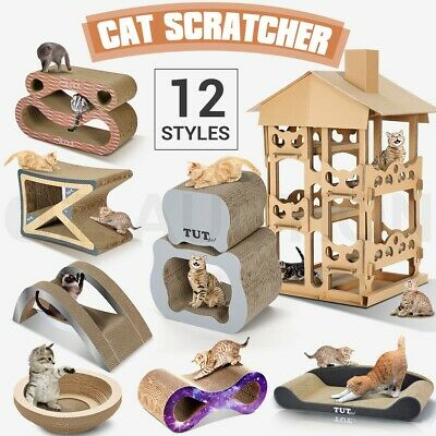 Cat Kitten Pet Claw Scratching Post Scratcher Board Multi Shape Scratch Toy