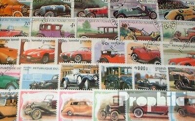Motives 100 different Oldtimer Cars stamps