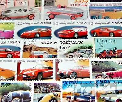 Motives 50 different racing cars and Motorsport stamps