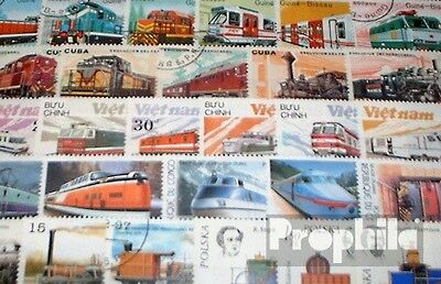 Motives 150 different Railway stamps