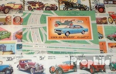 Motives 100 different Car and motor vehicles Stamps