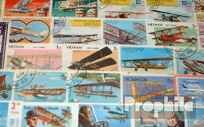 Motives 50 different biplane stamps