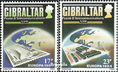 Gibraltar 475-476 (complete issue) used 1984 European Conferenc