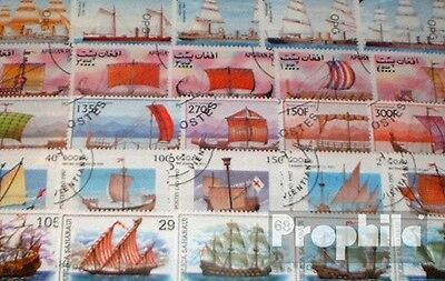 Motives 100 different Sailboats stamps