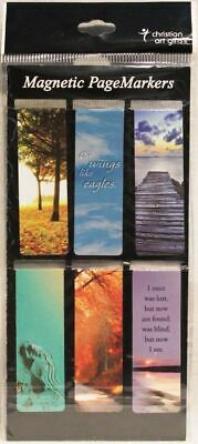 Beautiful Classic Magnetic Page Bookmarks Set of 6 Bible Verses Be Still NEW