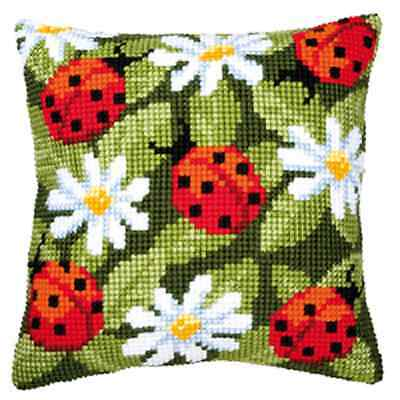Ladybird - Large Holed Tapestry Cushion Kit/Printed Chunky Cross Stitch