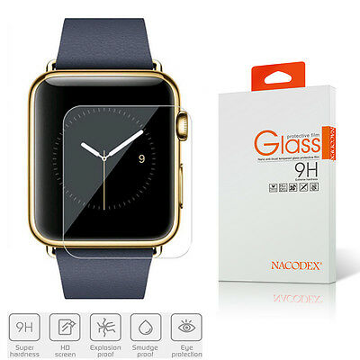 Nacodex Premium HD Tempered Glass Screen Protector For Apple Watch 38mm / 42mm
