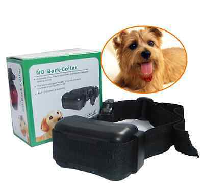 NEW Anti No Bark Control Collar Auto Static Shock for Training Dog Stop Barking